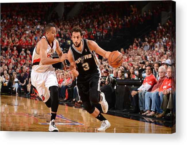 Playoffs Acrylic Print featuring the photograph Marco Belinelli by Garrett Ellwood
