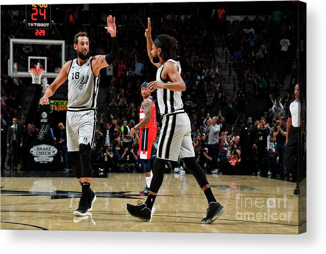 Nba Pro Basketball Acrylic Print featuring the photograph Marco Belinelli by Logan Riely