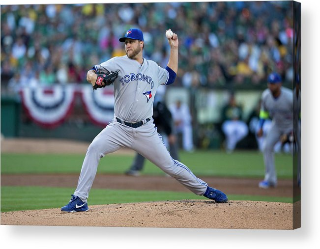 American League Baseball Acrylic Print featuring the photograph Mark Buehrle by Jason O. Watson