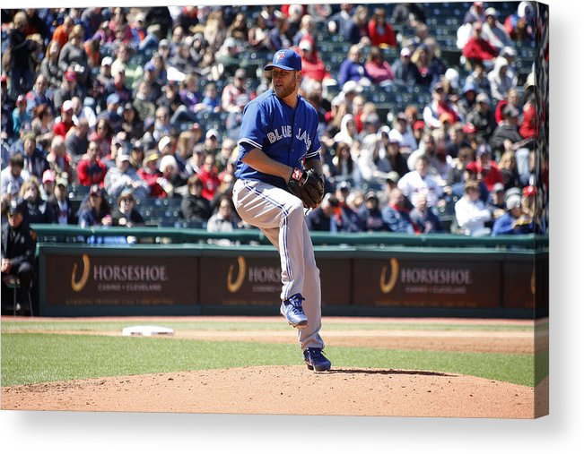 American League Baseball Acrylic Print featuring the photograph Mark Buehrle by John Grieshop