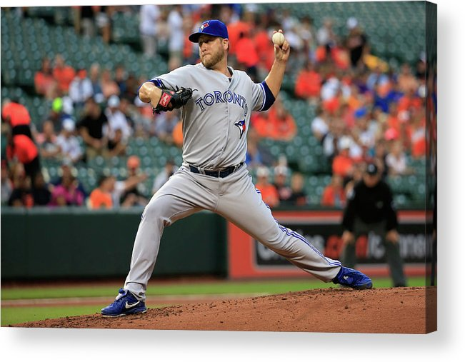 American League Baseball Acrylic Print featuring the photograph Mark Buehrle by Rob Carr