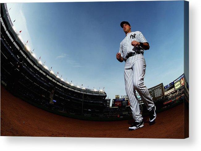 American League Baseball Acrylic Print featuring the photograph Mark Teixeira by Al Bello