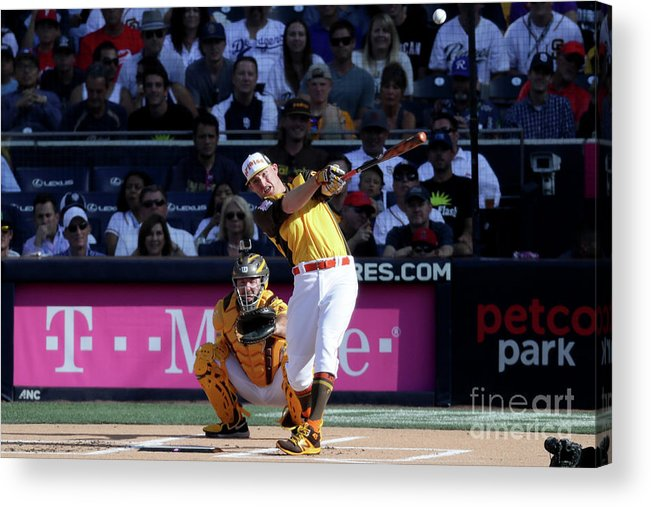 People Acrylic Print featuring the photograph Mark Trumbo by Sean M. Haffey