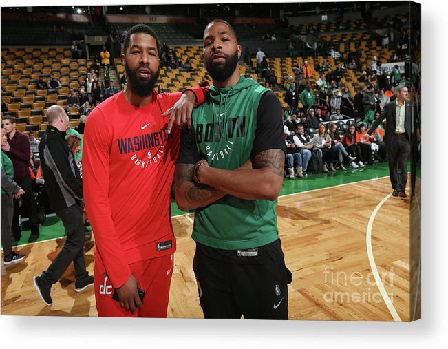 Nba Pro Basketball Acrylic Print featuring the photograph Markieff Morris and Marcus Morris by Ned Dishman