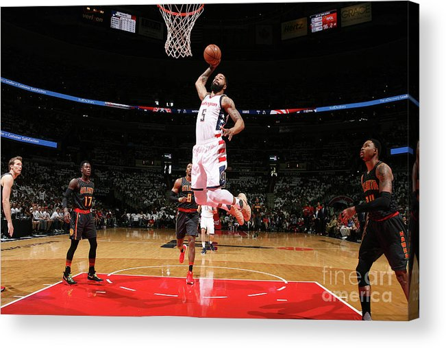 Playoffs Acrylic Print featuring the photograph Markieff Morris by Ned Dishman