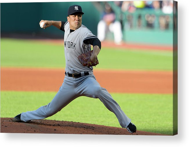 American League Baseball Acrylic Print featuring the photograph Masahiro Tanaka by Jason Miller