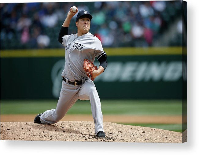 Second Inning Acrylic Print featuring the photograph Masahiro Tanaka by Otto Greule Jr