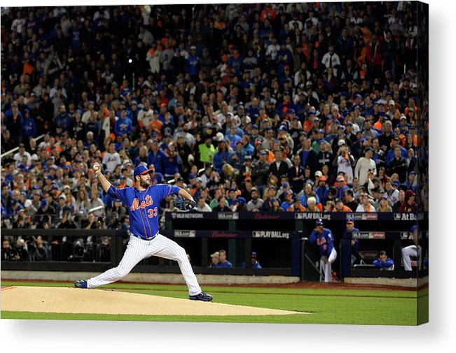 Matt Harvey Acrylic Print featuring the photograph Matt Harvey by Ron Vesely