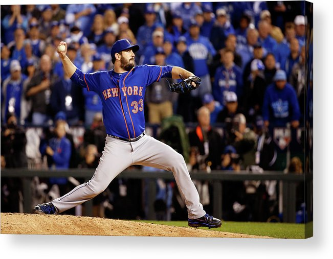Matt Harvey Acrylic Print featuring the photograph Matt Harvey by Sean M. Haffey