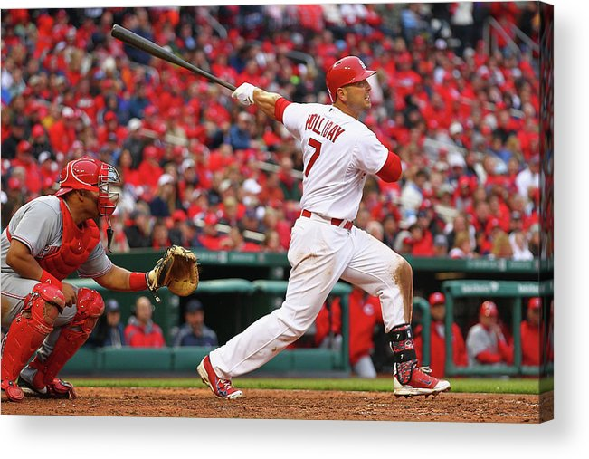 St. Louis Cardinals Acrylic Print featuring the photograph Matt Holliday by Dilip Vishwanat