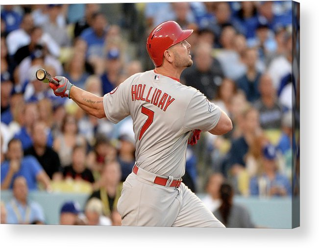 St. Louis Cardinals Acrylic Print featuring the photograph Matt Holliday by Harry How