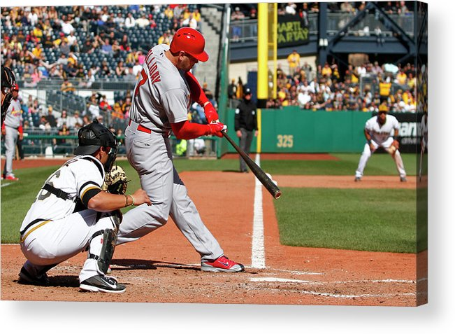 St. Louis Cardinals Acrylic Print featuring the photograph Matt Holliday by Justin K. Aller