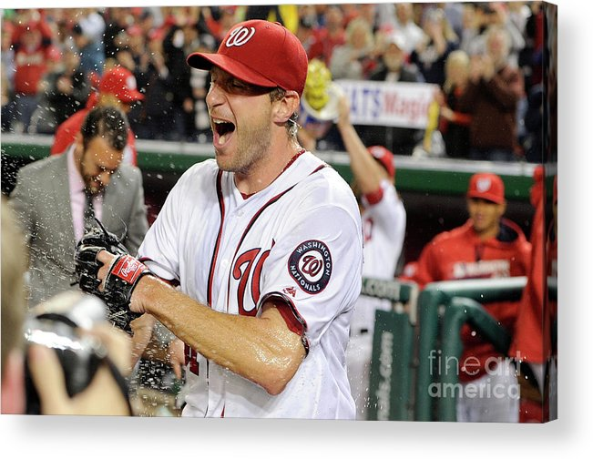 People Acrylic Print featuring the photograph Max Scherzer by Greg Fiume