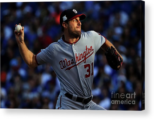 Three Quarter Length Acrylic Print featuring the photograph Max Scherzer by Jonathan Daniel