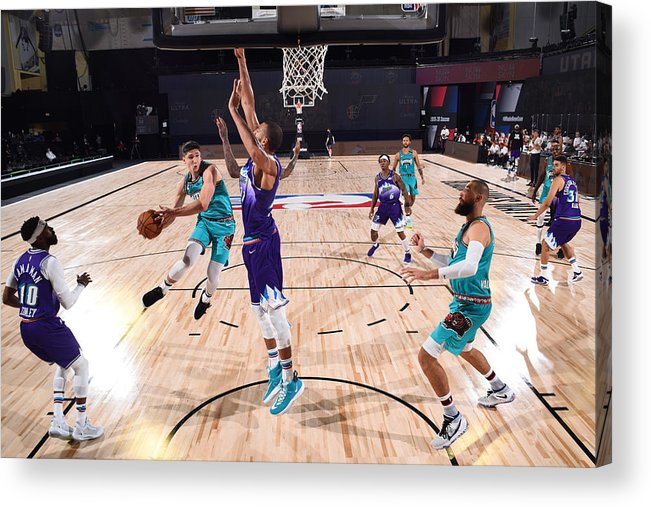 Nba Pro Basketball Acrylic Print featuring the photograph Memphis Grizzlies v Utah Jazz by Joe Murphy