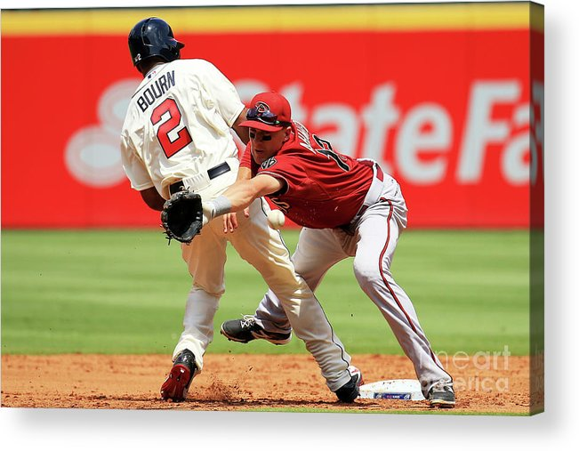 Atlanta Acrylic Print featuring the photograph Michael Bourn and Nick Ahmed by Daniel Shirey