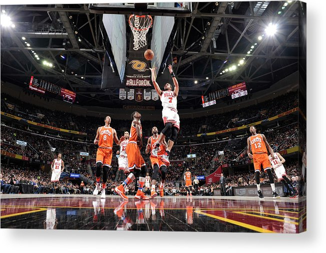 Nba Pro Basketball Acrylic Print featuring the photograph Michael Carter-williams by David Liam Kyle