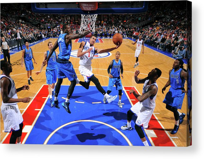 Nba Pro Basketball Acrylic Print featuring the photograph Michael Carter-williams by Jesse D. Garrabrant