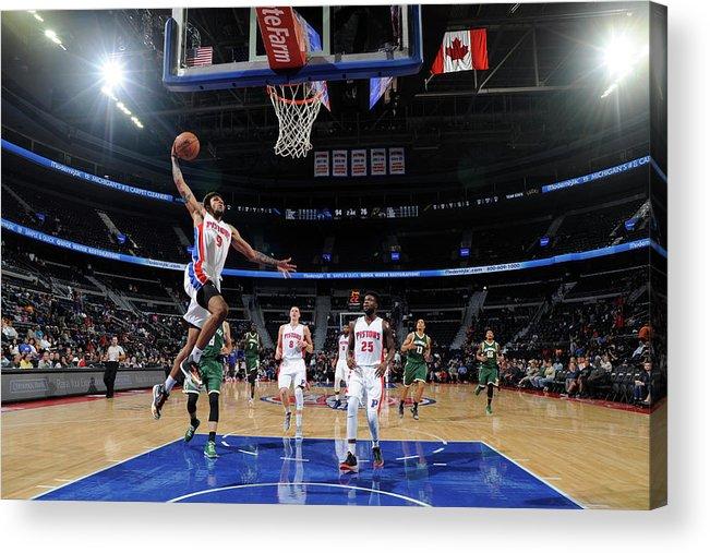 Nba Pro Basketball Acrylic Print featuring the photograph Michael Gbinije by Chris Schwegler