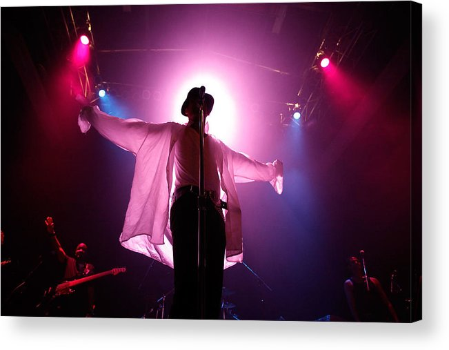 People Acrylic Print featuring the photograph Michael Jackson Cover Band Plays DC 9:30 Club by Chip Somodevilla