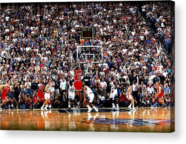Chicago Bulls Acrylic Print featuring the photograph Michael Jordan by Fernando Medina