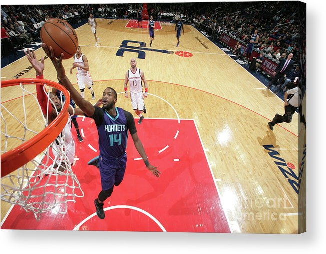 Nba Pro Basketball Acrylic Print featuring the photograph Michael Kidd-gilchrist by Ned Dishman