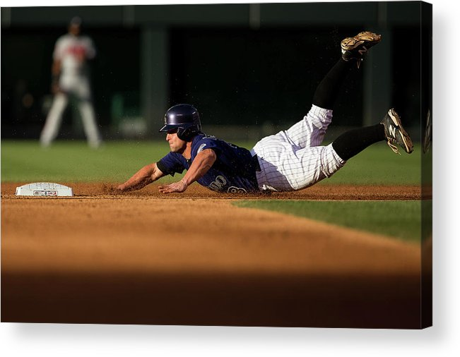 Second Inning Acrylic Print featuring the photograph Michael Mckenry by Justin Edmonds