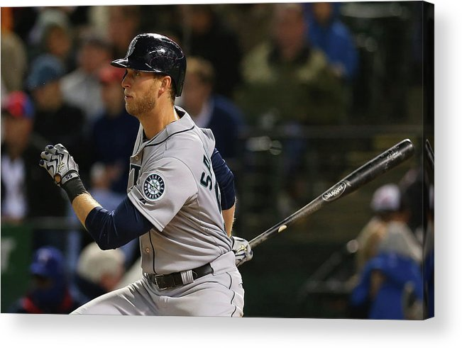 American League Baseball Acrylic Print featuring the photograph Michael Saunders by Ronald Martinez