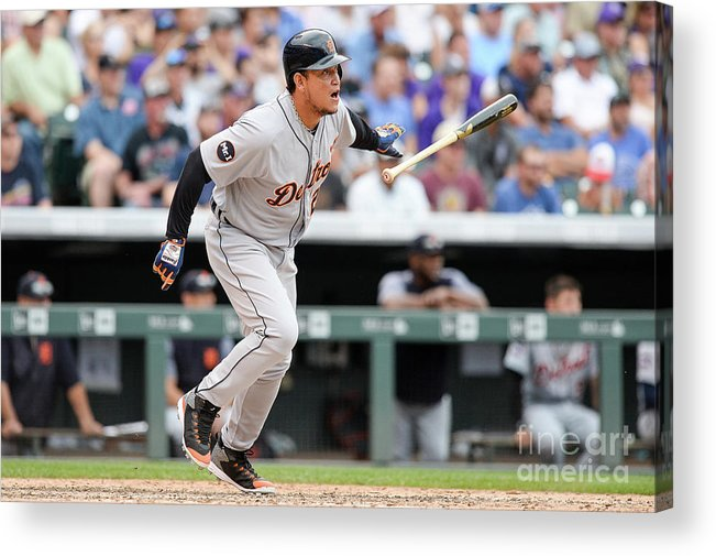 Double Play Acrylic Print featuring the photograph Miguel Cabrera by Dustin Bradford