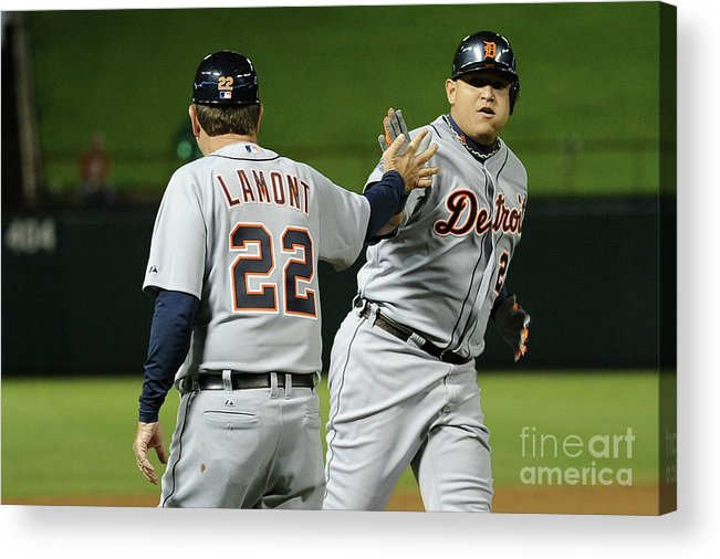 People Acrylic Print featuring the photograph Miguel Cabrera by Harry How