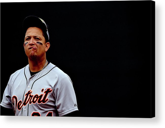 Game Two Acrylic Print featuring the photograph Miguel Cabrera by Patrick Smith
