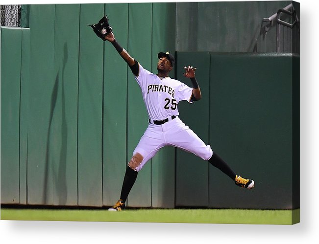 People Acrylic Print featuring the photograph Miguel Montero and Gregory Polanco by Joe Sargent