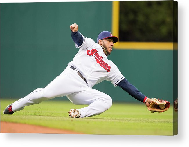 American League Baseball Acrylic Print featuring the photograph Mike Aviles by Jason Miller