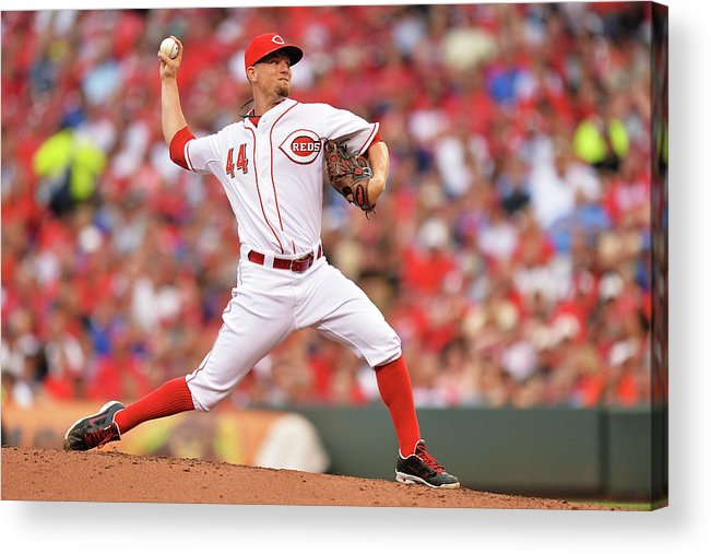 Great American Ball Park Acrylic Print featuring the photograph Mike Leake by Jamie Sabau