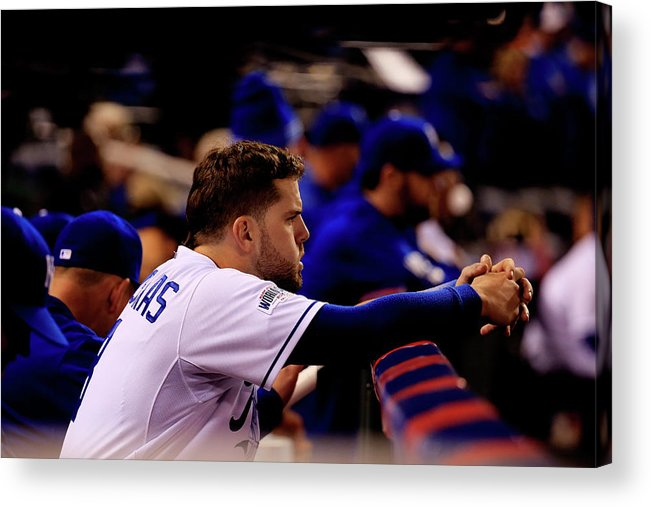 People Acrylic Print featuring the photograph Mike Moustakas by Rob Carr