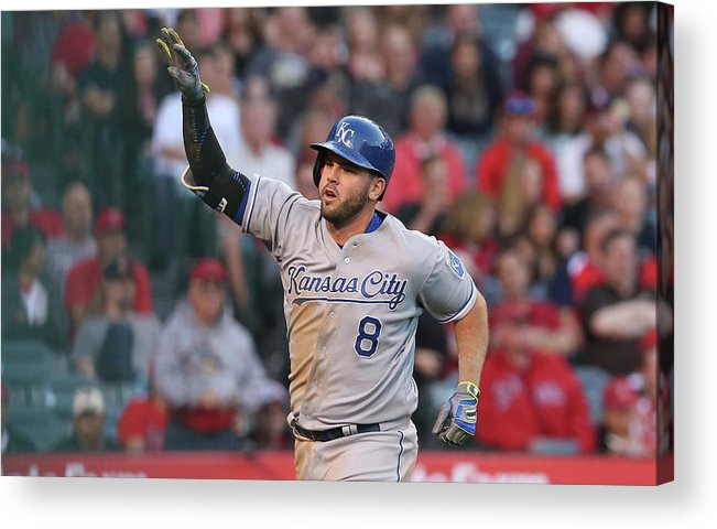 Three Quarter Length Acrylic Print featuring the photograph Mike Moustakas by Stephen Dunn