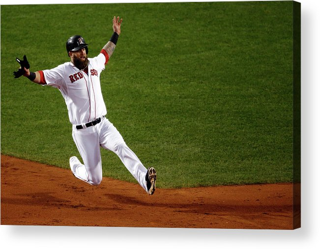 American League Baseball Acrylic Print featuring the photograph Mike Napoli by Jim Rogash