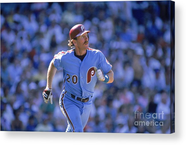 1980-1989 Acrylic Print featuring the photograph Mike Schmidt by John Williamson
