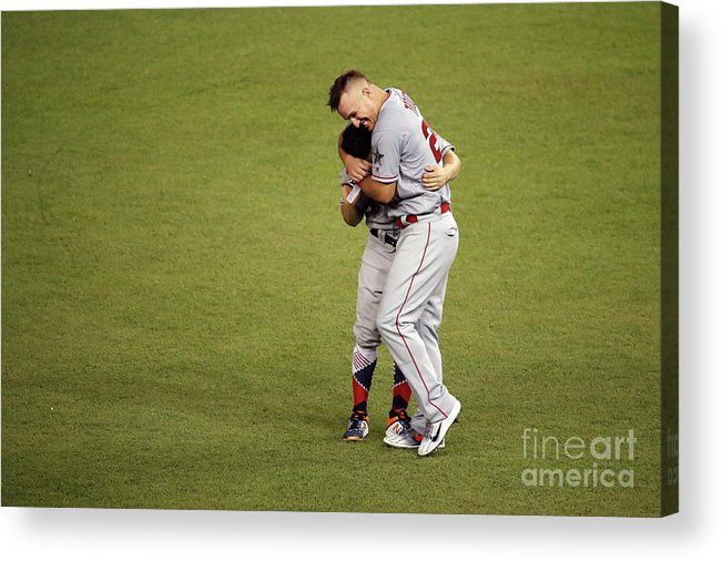 People Acrylic Print featuring the photograph Mike Trout by Patrick Mcdermott