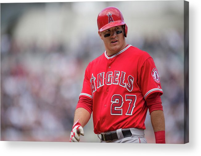 Mike Trout Acrylic Print featuring the photograph Mike York by Rob Tringali