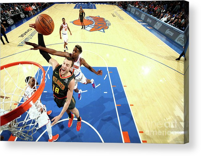 Nba Pro Basketball Acrylic Print featuring the photograph Miles Plumlee by Nathaniel S. Butler