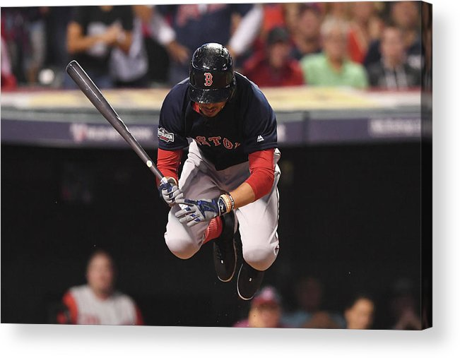 People Acrylic Print featuring the photograph Mookie Betts by Jason Miller