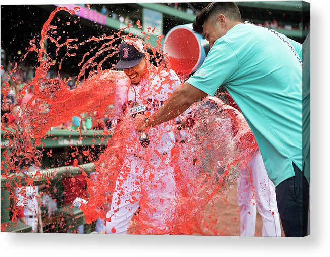 American League Baseball Acrylic Print featuring the photograph Mookie Betts by Michael Ivins/boston Red Sox