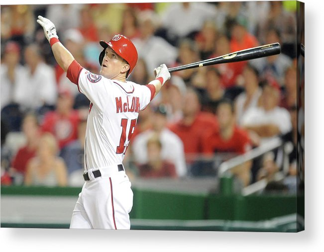 American League Baseball Acrylic Print featuring the photograph Nate Mclouth by Mitchell Layton