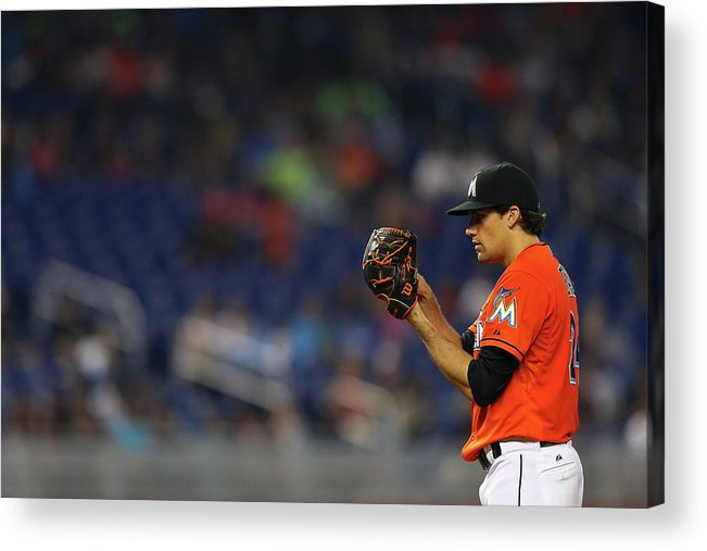 American League Baseball Acrylic Print featuring the photograph Nathan Eovaldi by Mike Ehrmann