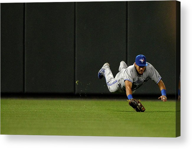 American League Baseball Acrylic Print featuring the photograph Nelson Cruz and Melky Cabrera by Patrick Smith