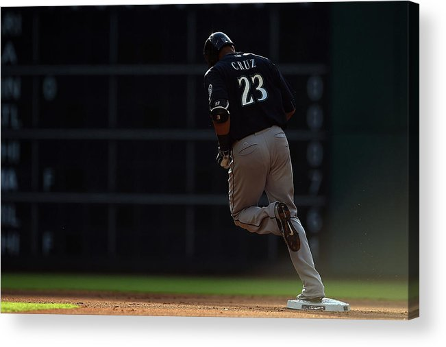 Following Acrylic Print featuring the photograph Nelson Cruz by Stacy Revere