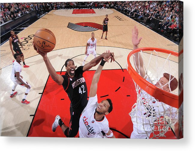 Nba Pro Basketball Acrylic Print featuring the photograph Nene Hilario by Sam Forencich