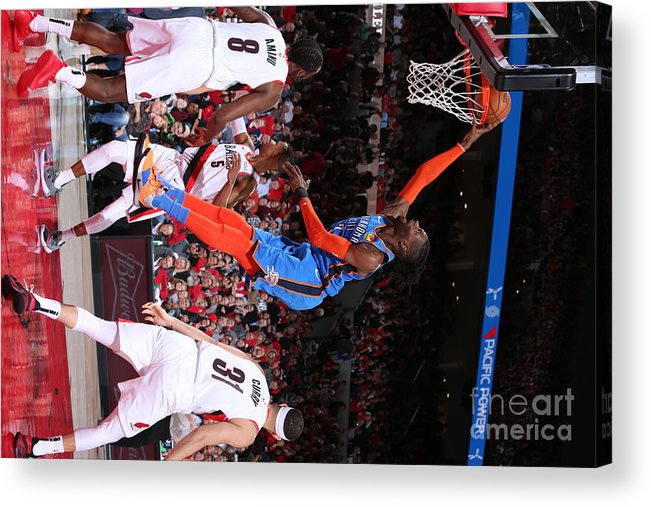 Playoffs Acrylic Print featuring the photograph Nerlens Noel by Sam Forencich