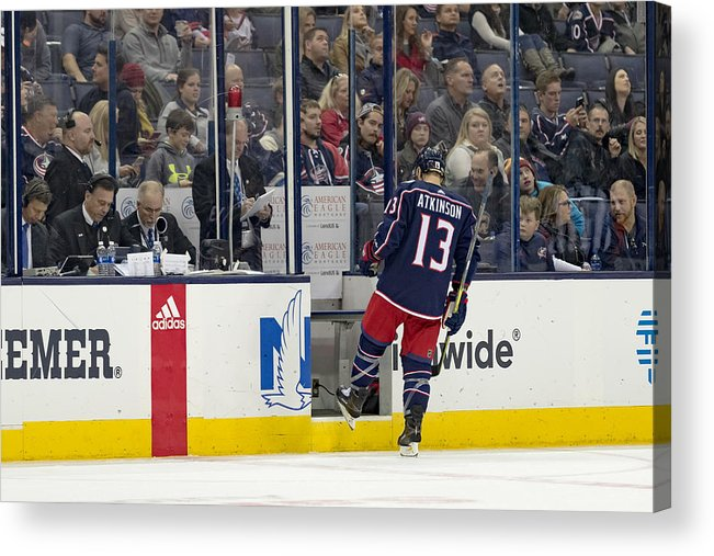 National Hockey League Acrylic Print featuring the photograph NHL: DEC 01 Ducks at Blue Jackets by Icon Sportswire